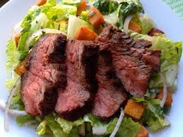 A steak salad would at least be a step up from a regular ole salad.